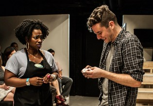 Stacey Sergeant and Michael Urie