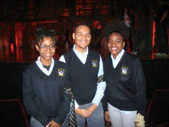 Democracy Prep Charter School's Whitney Stephenson, Nelson Luna, Diaivionne Robinson
