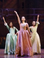 Lexi Lawson, Mandy Gonzalez, Jasmine Cephas Jones (who has left already) as the Schuyler Sisters