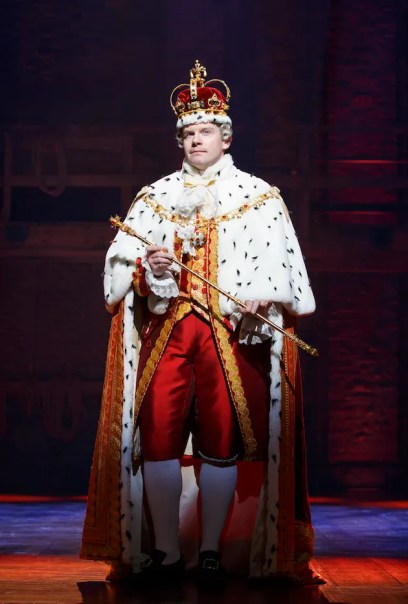 Rory O'Malley as King George. He will be leaving January 15, 2017.