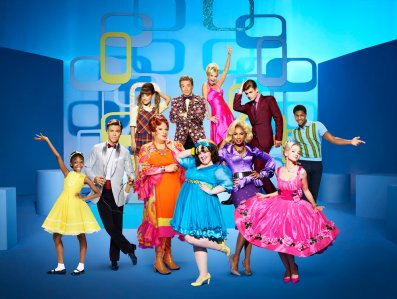 : (l-r) top row: Ariana Grande as Penny Pingleton, Martin Short as Wilbur Turnblad, Kristin Chenoweth as Velma Von Tussle, Garrett Clayton as Link Larkin, Ephraim Skyes as Seaweed J. Stubbs; bottom row: Shahadi Wright Joseph as Little Inez, Derek Hough as Corny Collins, Harvey Fierstein as Edna Turnblad, Maddie Baillio as Tracy Turnblad, Jennifer Hudson as Motormouth Maybelle, Dove Cameron as Amber Von Tussle -- (Photo by: Brian Bowen Smith/NBC)
