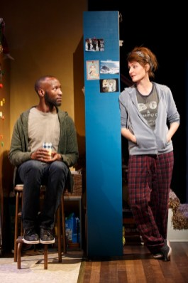 """A scene from """"Tiny Beautiful Things"""" when it was on stage Off-Broadway"""