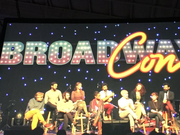 The cast of Natasha, Pierre and the Great Comet of 1812 answers questions on the Main Stage.