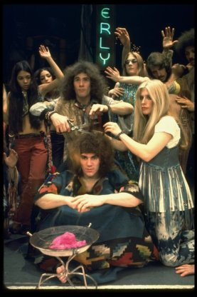 """A scene from the Broadway production of the musical """"Hair""""."""