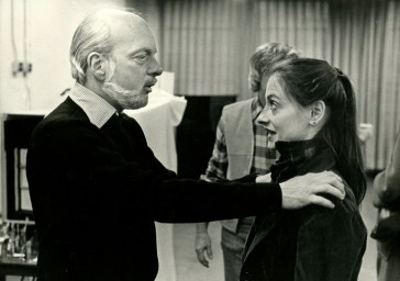 Hal Prince and Patti LuPone in rehearsal