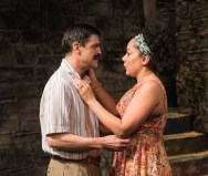 Juan Carlos Hernandez as Mostro and Selenis Leyva as Samira