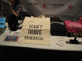 schwag and tchotkes from BroadwayCon