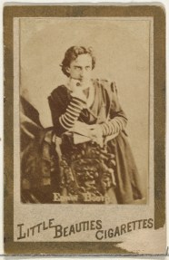 Allen & Ginter (American, Richmond, Virginia) Edwin Booth, from the Actresses and Celebrities series (N60, Type 1) promoting Little Beauties Cigarettes for Allen & Ginter brand tobacco products, 1887 American, Albumen photograph; Sheet: 2 3/8 × 1 1/2 in. (6 × 3.8 cm) The Metropolitan Museum of Art, New York, The Jefferson R. Burdick Collection, Gift of Jefferson R. Burdick (63.350.202.60.13) http://www.metmuseum.org/Collections/search-the-collections/422317
