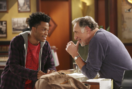 The TV series stars Judd Hirsch (right) as Arthur Przybyszewski and Jermaine Fowler (left) as Franco Wicks.