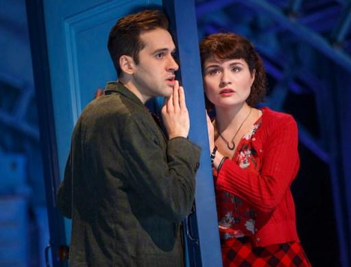 Adam Chanler-Berat and Phillipa Soo in Amelie
