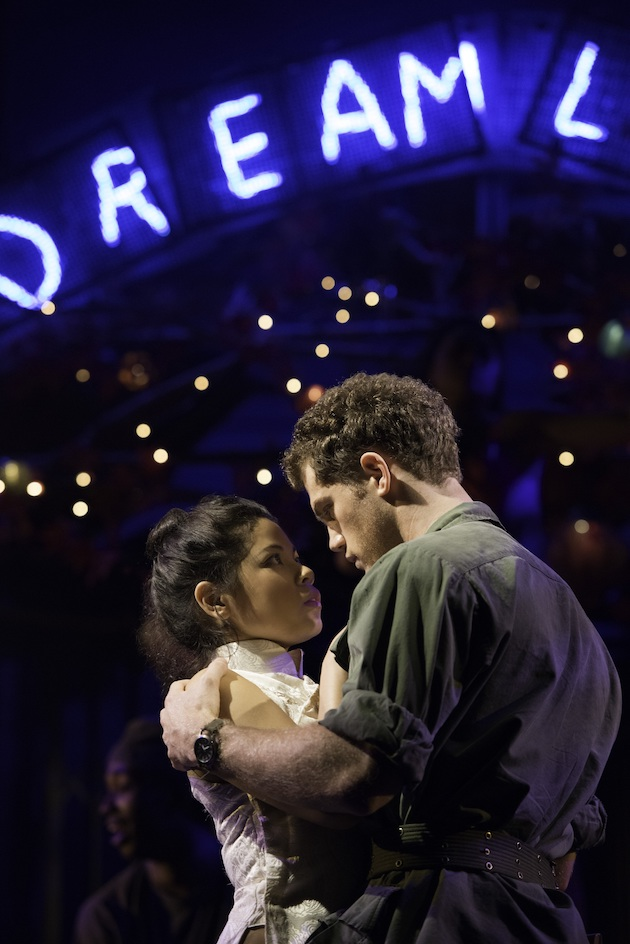 Miss Saigon 12 - Eva Noblezada as Kim and Alistair Brammer as Chris - Photo by Michael Le Poer Trench