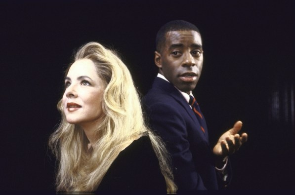 """Actors Stockard Channing & Courtney B. Vance in """"Six Degrees of Separation,"""" opened November 8, 1990. Its second Broadway production is opening April 25, 2017."""