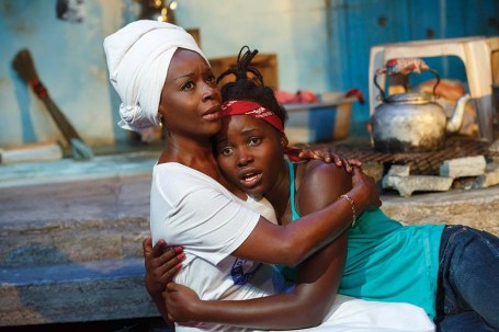 Akosua Busia and Lupita Nyong'o in ECLIPSED (c)Joan Marcus