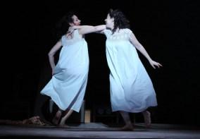 (l-r): Katrina Lenk as 'Manke,' Adina Verson as 'Rivkele' in INDECENT,