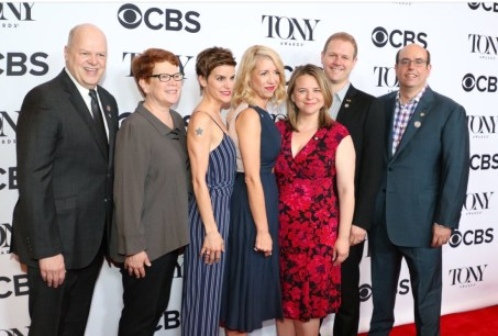 Randy Adams, Sue Frost, actress Jen Collela, choreographer Kelly Devine, original score and book writers Irene Sankoff and David Hein, director Christopher Ashley. Hein: We wanted to tell a 9/12 story about the people in Newfoundland we fell in love with
