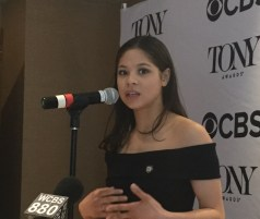 """Eva Noblezada, Miss Saigon. Best performance by an actress in a leading role in a musical. """"I still haven't gotten over that I'm on Broadway...Lea Salonga told me to enjoy the ride."""""""