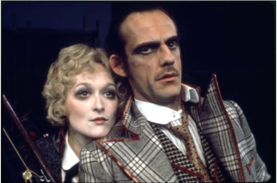 """Meryl Streep and Christopher Lloyd in the Chelsea Theater Center production of Bertolt Brecht's """"Happy End"""" during BAM Spring Series, 1977"""