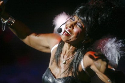 """Nona Hendryx in the Laurie Anderson curated production """"Laurie & Friends"""" during BAM Spring Series, 2009"""