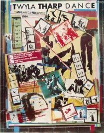 Poster for Twyla Tharp Dance productions during BAM Spring Series, 1984