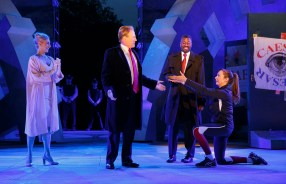 Tina Benko, Gregg Henry as Caesar, Teagle F. Bougere, and Elizabeth Marvel