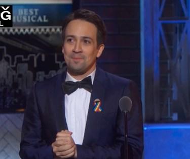Lin-Manuel Miranda, presenter for best musical