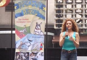 Bernadette Peters at Broadway Barks 19