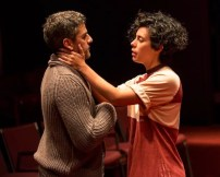 Oscar Isaac as Hamlet and Roberta Colindrez as Rosencrantz