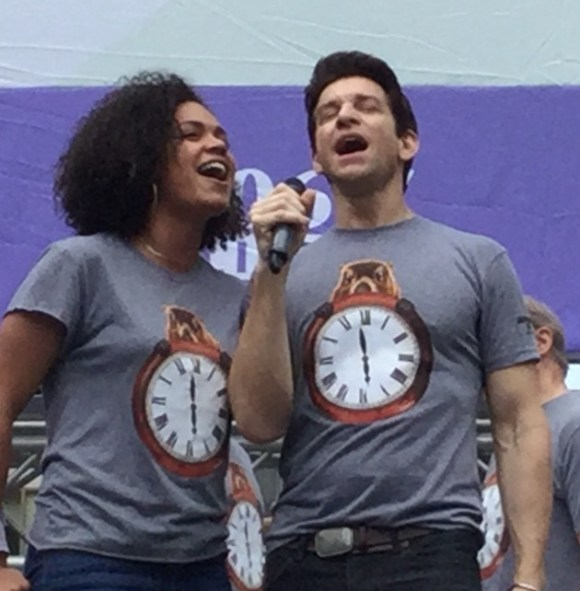 Seeing You, sung by Barrett Doss, Andy Karl and cast.