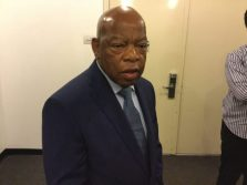 "Congressman John Lewis, on his way to see ""Freedom Riders"""