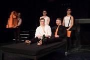A Clockwork Orange 17 Jonno Davies and Ashley Robinson (front) and cast of A Clockwork Orange (c) Caitlin McNaney
