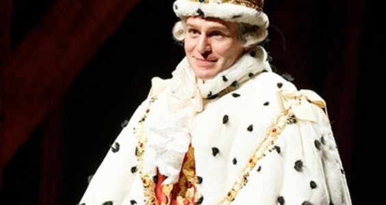 Jonathan Groff as the first King George,