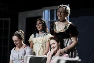 Sense and Sensibility, Andrus Nichols, Vaishnavi Sharma, Kate Hamill and Samantha Steinmetz, Bedlam Theater Company's production