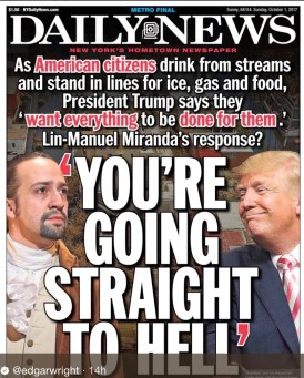 Daily News on Trump vs Miranda