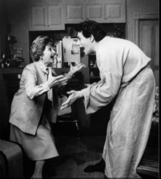 Estelle Getty as Ma and Fierstein in the Broadway production of Torch Song Trilogy
