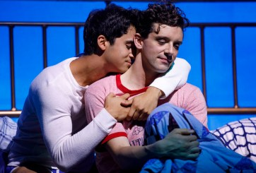 Michael Rosen and Michael Urie in Torch Song, transferring to Broadway