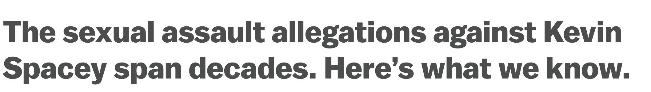 Spacey headline