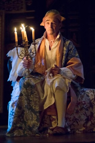 Mark Rylance as King Philippe V in Farinelli and the King