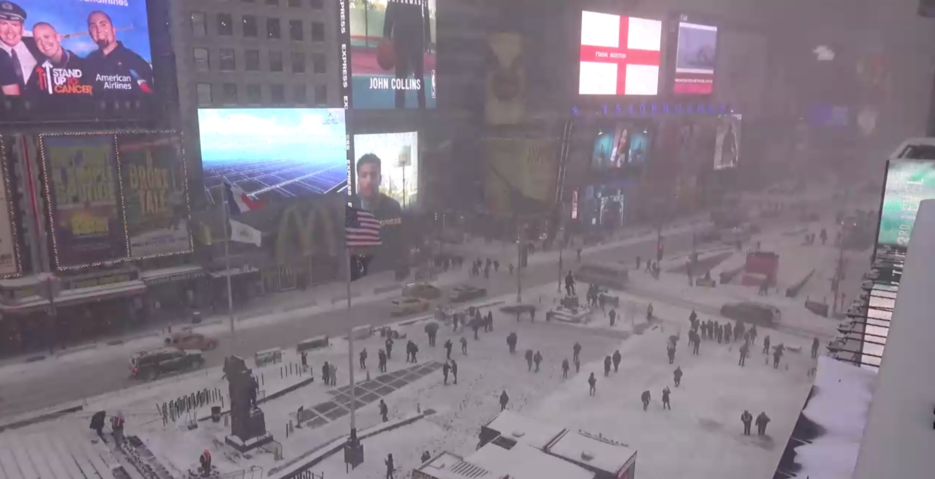 Times Square, January 4, 2018 at noon.