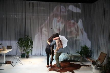 Dan Domingues as Steve Cosson and Aysan Celik as his psychopomp