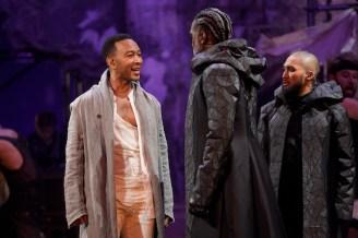 "John Legend as Jesus, Norm Lewis as Caiaphas, Jin Ha as Annas (""Hosanna"")"