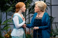 Lauren Ambrose as Eliza and Diana Rigg as Mrs. Higgins