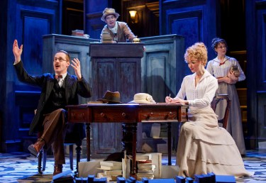 Peter McDonald, Tom Hollander, Scarlett Strallen, and Sara Topham