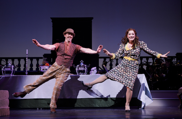 Christian Borle and Laura Michelle Kelly