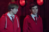 "RISE -- ""Opening Night"" Episode 110 -- Pictured: (l-r) Sean Grandillo as Jeremy, Ted Sutherland as Simon Saunders -- (Photo by: Virginia Sherwood/NBC)"