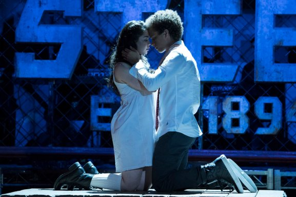 "RISE -- ""Opening Night"" Episode 110 -- Pictured: (l-r) Auli'i Cravalho as Lilette Suarez, Damon J. Gillespie as Robbie Thorne -- (Photo by: Virginia Sherwood/NBC)"