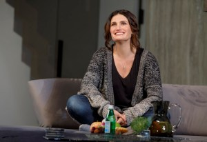 "Idina Menzel in a non-singing role in the 2018 Off-Broadway play ""Skintight"" by Joshua Harmon"