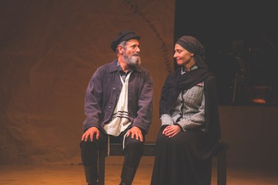 Steven Skybell as Tevye and Mary Illes as Golde