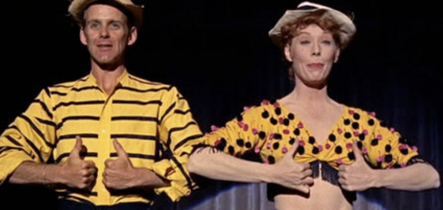 Bob Fosse and Gwen Verdon, dancing Who's Got The Pain in Damn Yankees, which debuted on Broadway in 1955