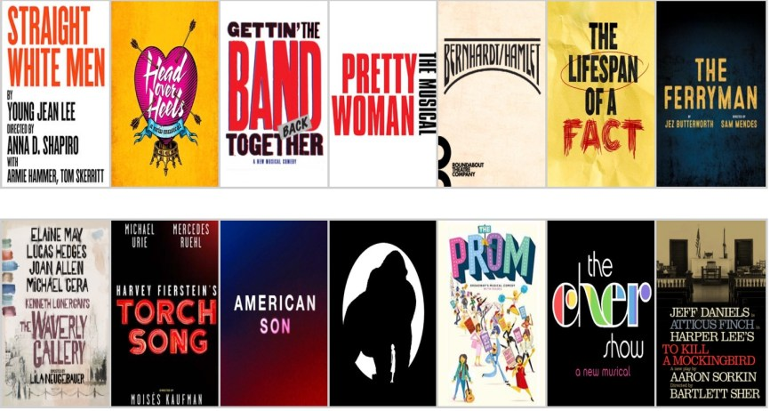 Broadway Fall 2018 logos