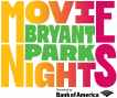 Bryant Park movie nights logo